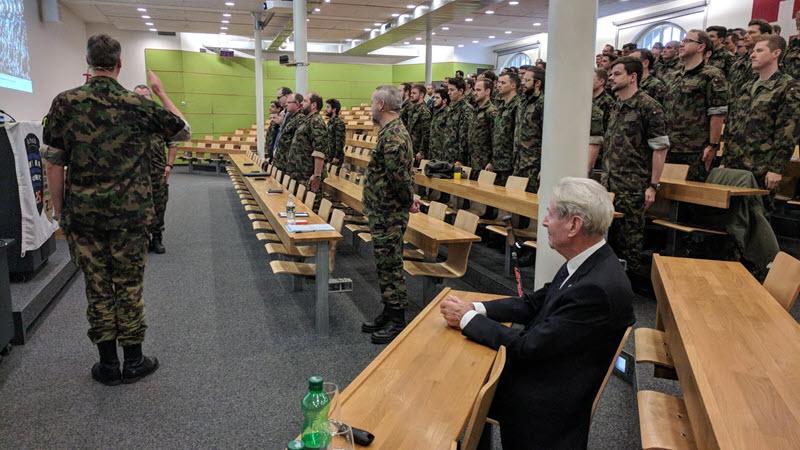 Vortrag bei der Schweizer Armee am 7.12.17 in Bern